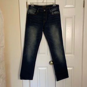 Carbon Slim Straight Distressed Jeans size 34/34